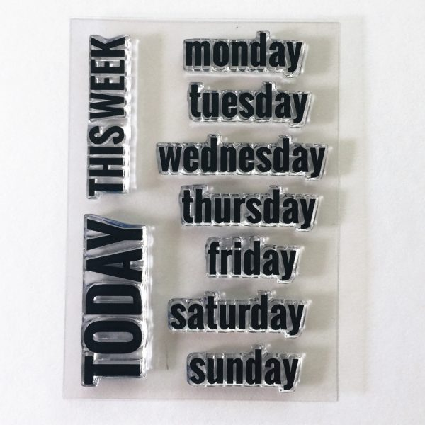 rukristin days of the week clear acrylic stamp set