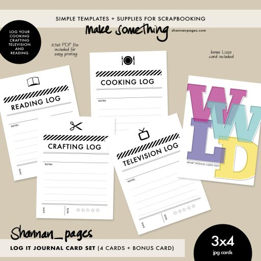 ad image for Log It journal card set