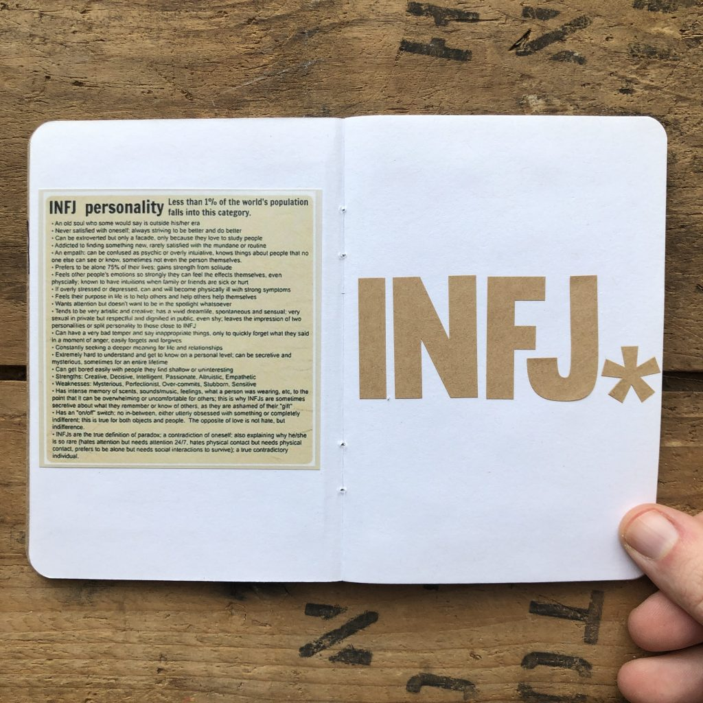 INFJ Daily Page Notebook