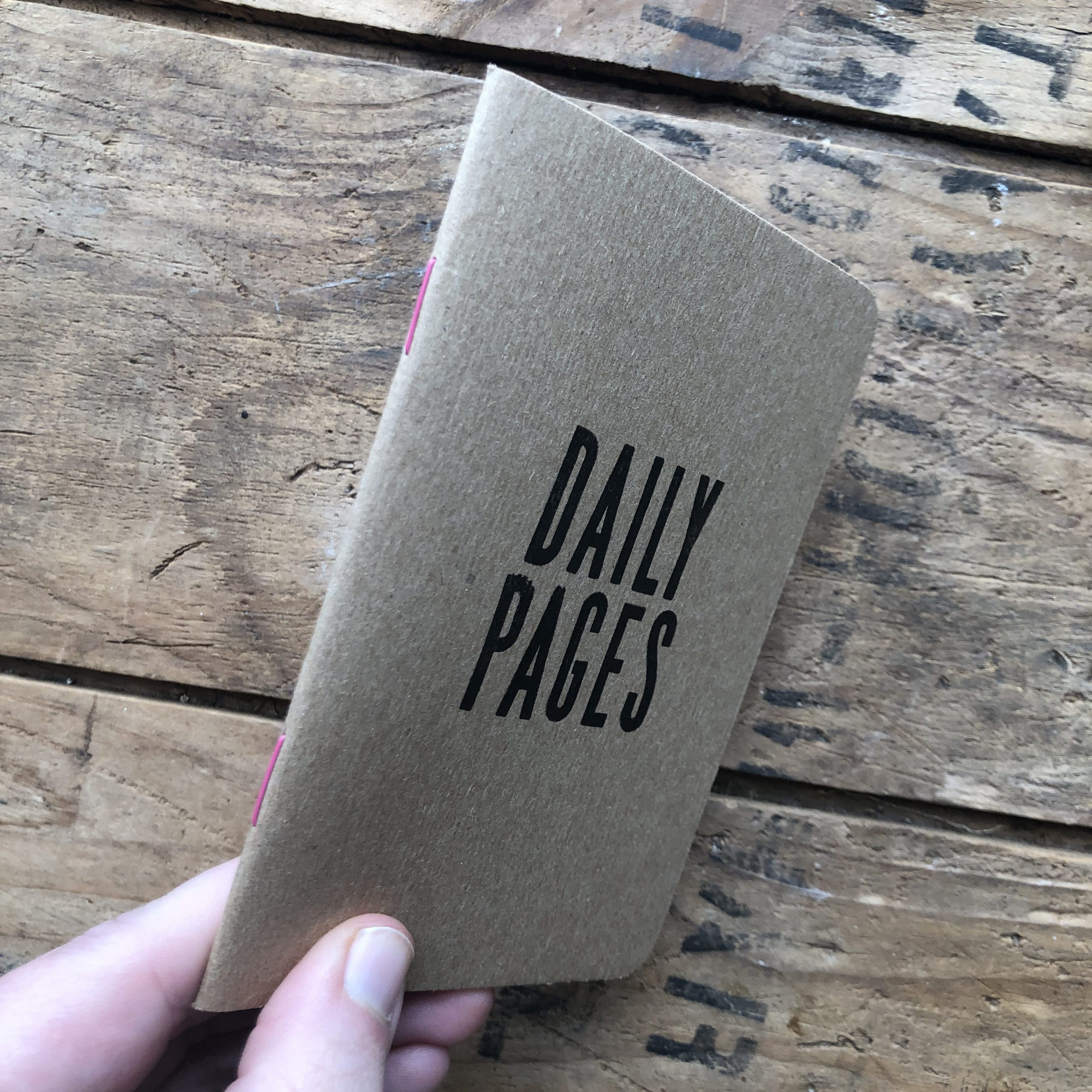 daily pages notebook side view